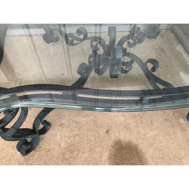 Ballard Designs Ballard Designs Scrolled Iron Cocktail Table & Side Table For Sale - Image 4 of 13