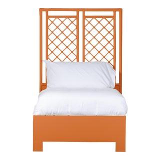 X & Diamond Bed Twin - Orange For Sale