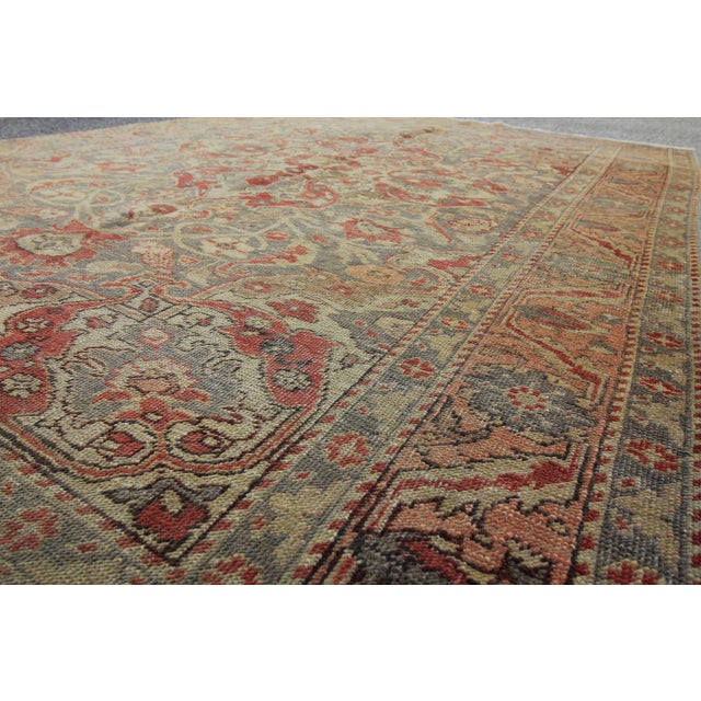 Antique Turkish Oushak Hand Knotted Rug - 4'8 X 7' For Sale - Image 4 of 5