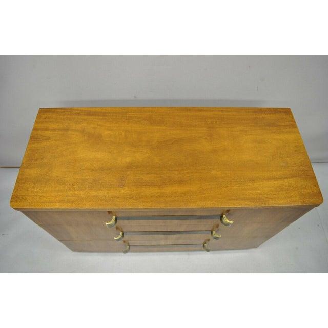 John Stuart Mid Century Modern Art Deco Birch Dresser For Sale In Philadelphia - Image 6 of 13