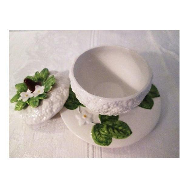 Italian Floral & Fruit Jam Jar For Sale - Image 5 of 6