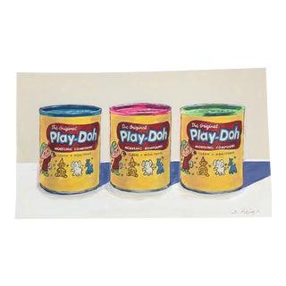 "Contemporary Philadelphia Illustrator Stephen Heigh "" Play-Doh"" Original Painting For Sale"