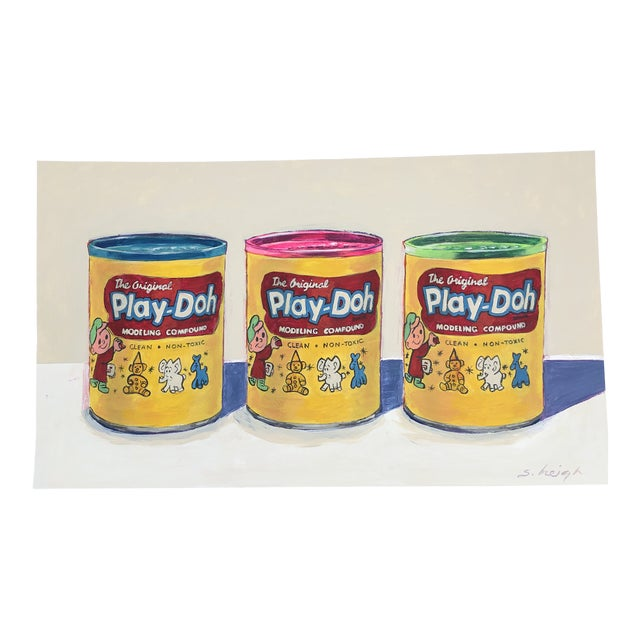 "Contemporary Philadelphia Illustrator Stephen Heigh "" Play-Doh"" Original Painting For Sale"