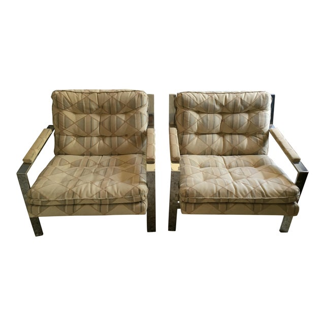 Cy Mann for Milo Baughman Lounge Chairs - Pair - Image 1 of 4
