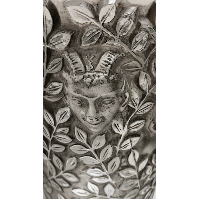 "Art Deco 1930s Vintage R. Lalique ""Silenes"" Vase For Sale - Image 3 of 13"