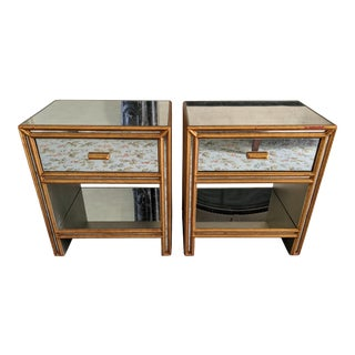Early 21st Century Julian Chichester Mirrored Bedside Tables - a Pair For Sale