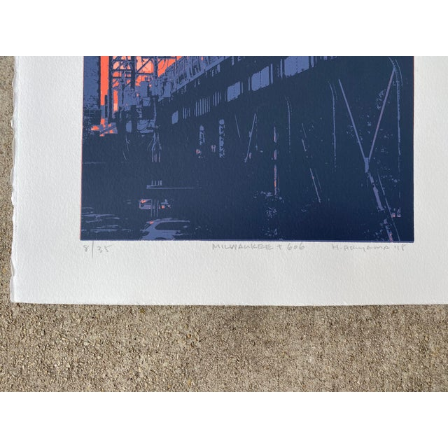Serigraph by Chicagoland artist Hiroshi Ariyama. Hiroshi's screen prints artfully depict the people, architecture and...