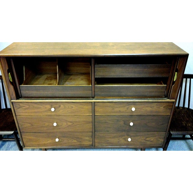 Kipp Stewart For Drexel Tambour Door High Chest - Image 4 of 10