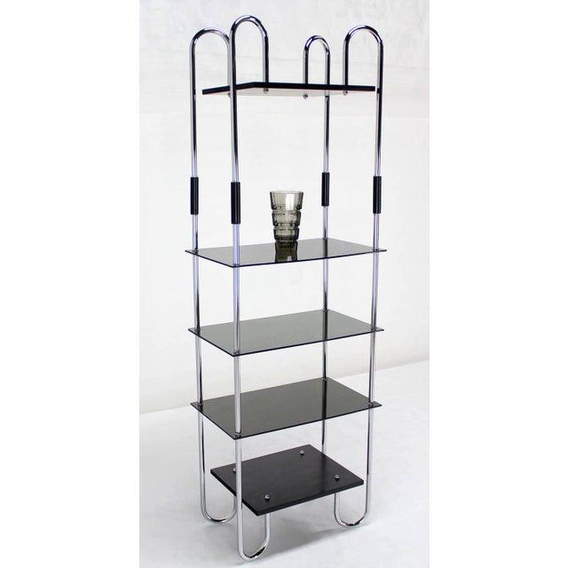 Aluminum Midcentury Bauhaus Style Etagere For Sale - Image 7 of 10
