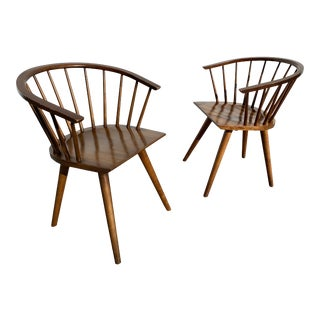 Conant Ball Windsor Dining Armchairs - a Pair For Sale