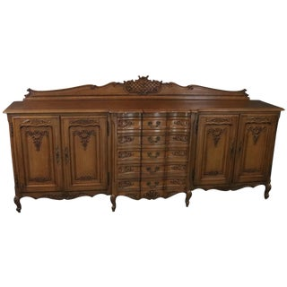 Sideboard Louis XV Rococo Vintage French Oak For Sale