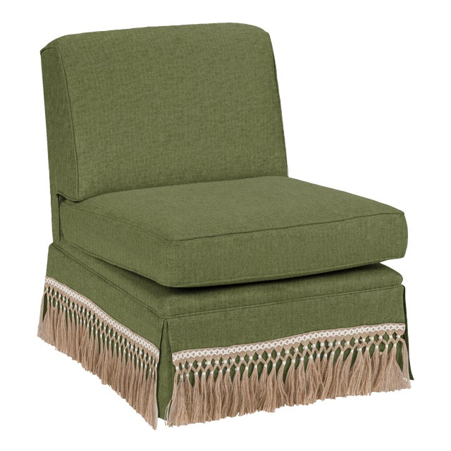 Traditional Casa Cosima Skirted Slipper Chair, Pine For Sale - Image 3 of 3