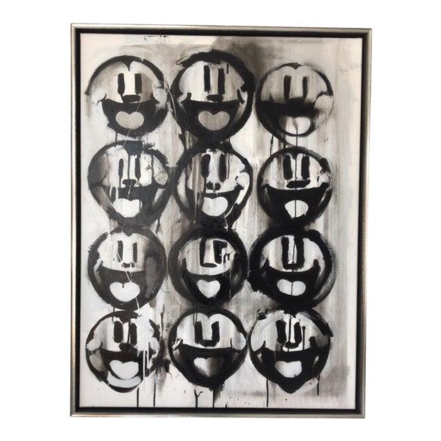 Madison Faile Twelve Faces Contemporary Artwork Acrylic on Canvas For Sale
