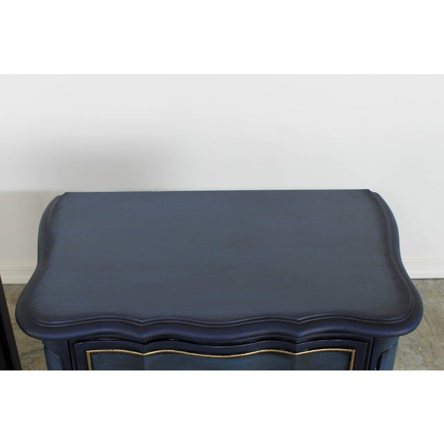 1960s Blue French Provincial Nightstands - a Pair For Sale In Miami - Image 6 of 10