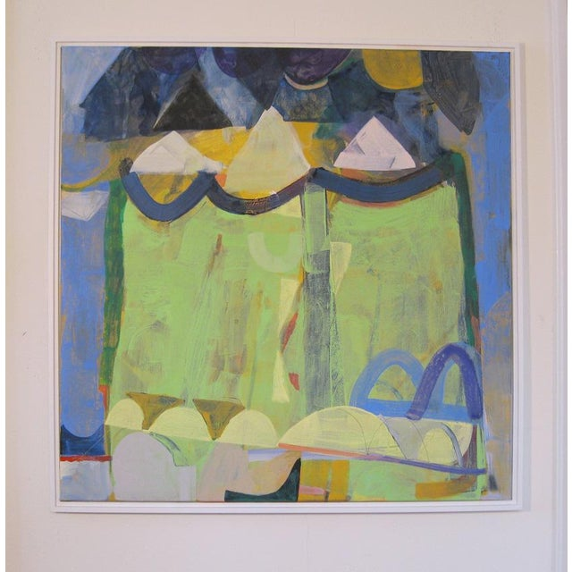 Just finished this one....really like this! Abstract No. 5, looks great in this white floater frame, ( for display only )...
