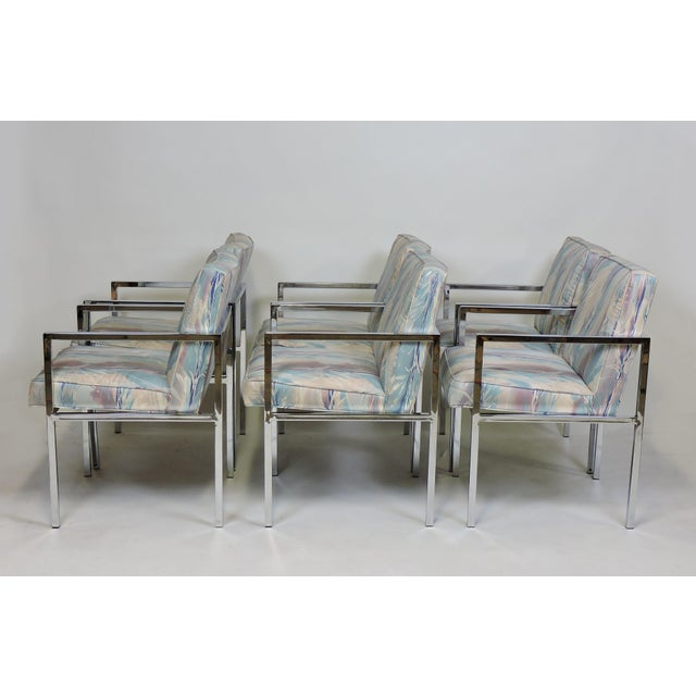 1970s Six Design Institute of America Dia Mid-Century Modern Chrome Dining Chairs For Sale - Image 5 of 11