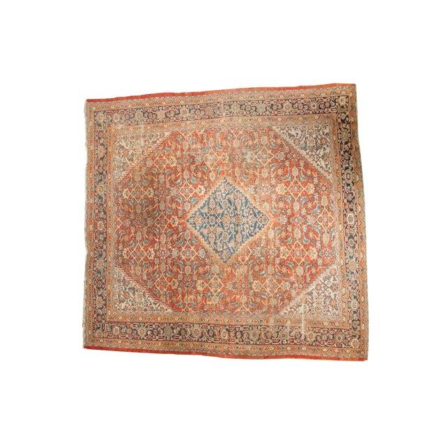 """Antique Mahal Square Carpet - 9'11"""" x 9'8"""" - Image 1 of 10"""