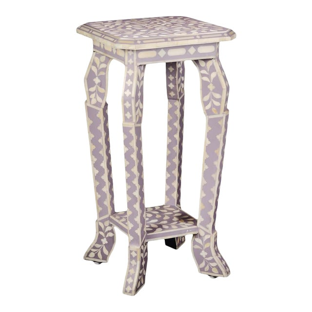 Imperial Beauty Telephone Table in Lilac/White For Sale