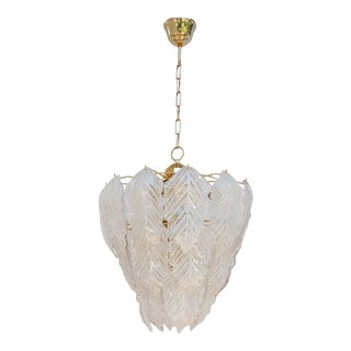 1970s Mid-Century Murano Glass Chandelier For Sale