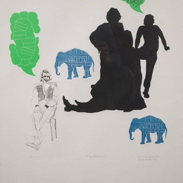 """Mid-Century Modern """"The Dream"""" Lithograph Printed in Colors, Depicting Jungle Scenes, 1968 For Sale - Image 3 of 11"""