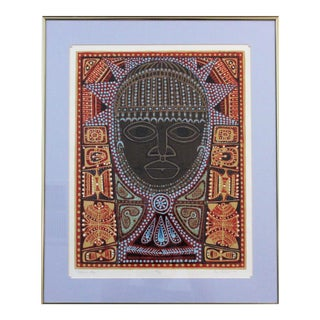 """Serigraph Print """"African Oba"""" by California Artist Dorr Bothwell (1902-2000) For Sale"""