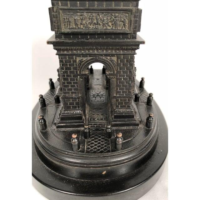 Black Marble 19th Century Grand Tour Bronze Architectural Model of the Arc De Triomphe, Paris For Sale - Image 7 of 12