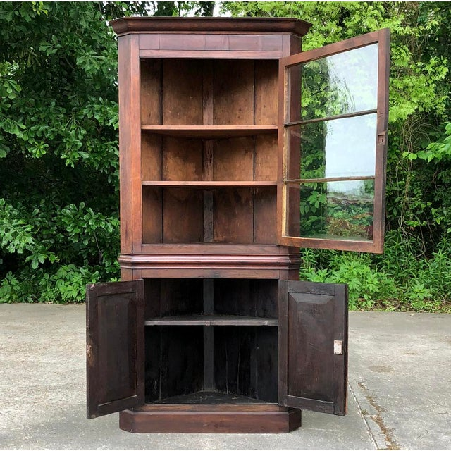 Brown 19th Century French Louis Philippe Corner Cabinet For Sale - Image 8 of 13