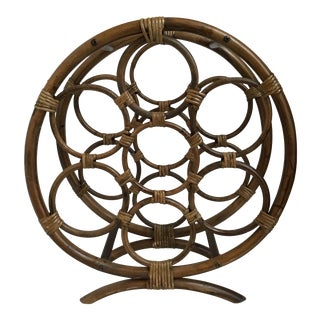 Rattan Wine Bottle Rack For Sale