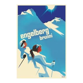 2020 Mads Berg Poster, Engelberg Ski Ladies For Sale