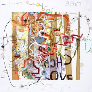 Janet Lage Trashed - Care for Some Cognac? Grafitti Painting 2015 For Sale