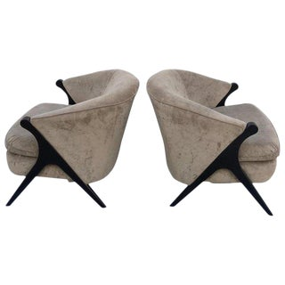 Pair of Karpen Style Compass Chairs For Sale