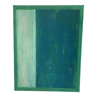 Original Green Abstract Painting in the Manner of Mark Rothko by Andrew Kennedy For Sale
