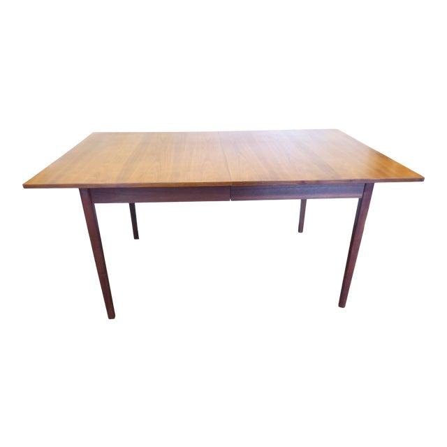 Vintage Modern Walnut Dining Table For Sale