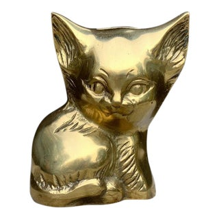 Brass Cat Bank For Sale
