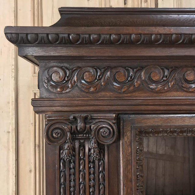 19th Century French Louis XVI Neoclassical Bookcase For Sale - Image 9 of 13