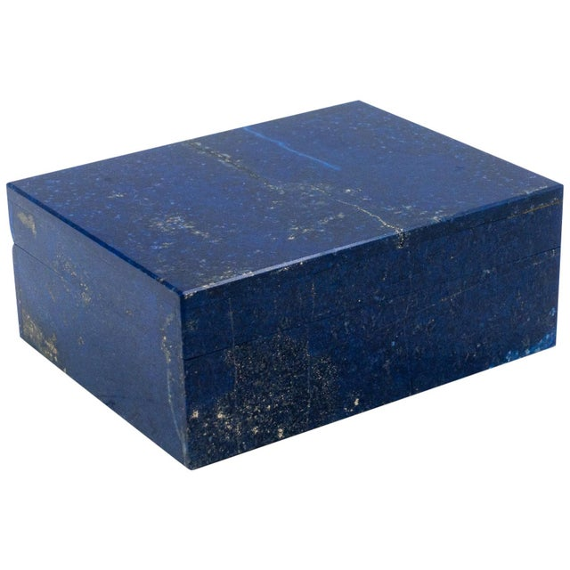Lapis Lazuli Box with Hinged Lid For Sale In New York - Image 6 of 6