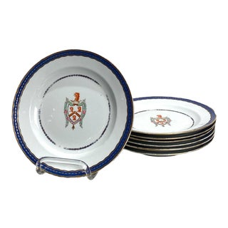 Spode Chinese Export Style Armorial Plates - Set of 7 For Sale