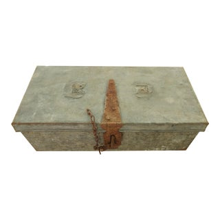 1920s Rustic Style Zinc Box For Sale