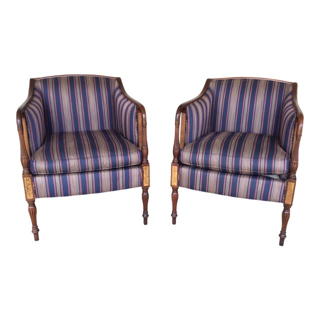 Southwood Mahogany Accent Chairs - a Pair For Sale