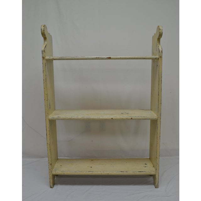 1880s Painted Pine Kitchen Shelf or Bucket Bench For Sale - Image 10 of 10