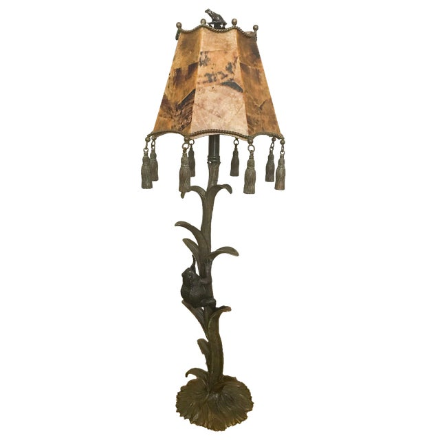 paw lamps vintage feet bronze lamp leather designed monkey smith maitland