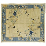 Image of Antique Chinese Peking Pictorial Rug - 10′2″ × 11′6″ For Sale