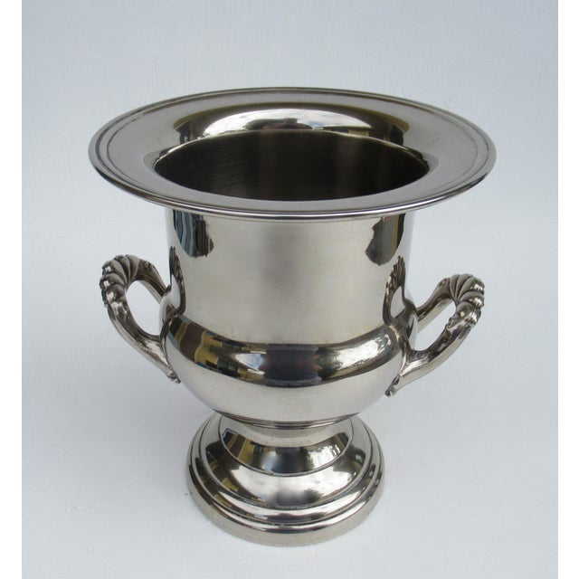 Vintage Silverplate Handled Champagne/Wine Bucket Holder For Sale In West Palm - Image 6 of 13
