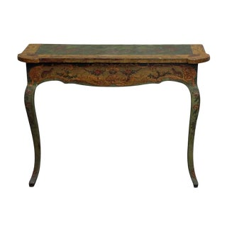 20th Century French Hand Painted Wall Console Table