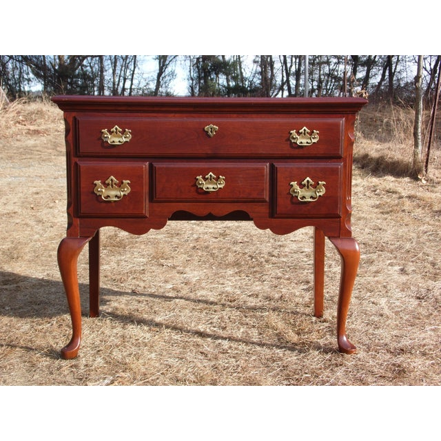 Vintage Pennsylvania House Solid Cherry Traditional Queen Anne Style Lowboy Chest For Sale - Image 13 of 13