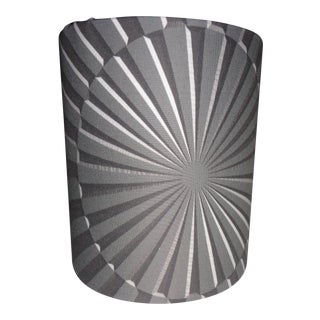 Art Deco Machine Age Lamp Shade With Designer Fabric - Black Pearl For Sale