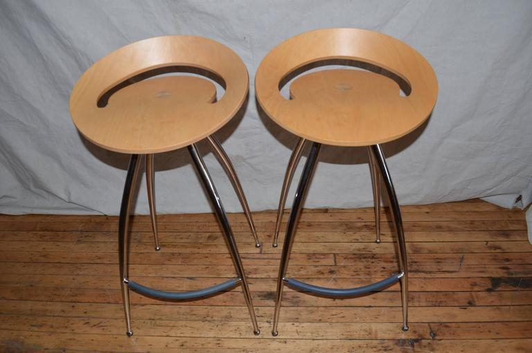 Magis Design Lyra Bar Stools A Pair Chairish