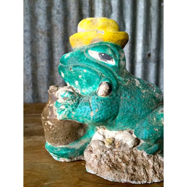 Vintage Concrete Frog - Image 7 of 8