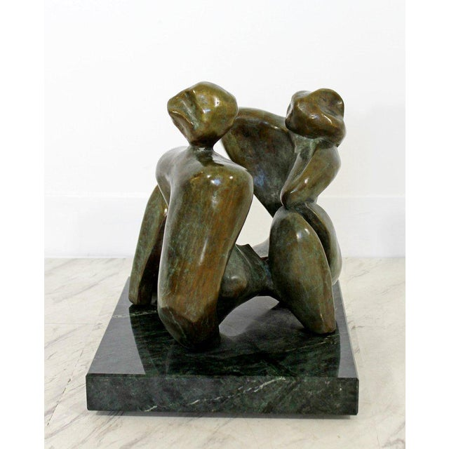 Contemporary Bronze Woman Table Sculpture by Jean Jacques Porret Prologue 2/8 For Sale - Image 12 of 13