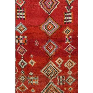 "1970s Boho Chic Boujad Moroccan Rug - 6'3"" X 11'2"" For Sale"